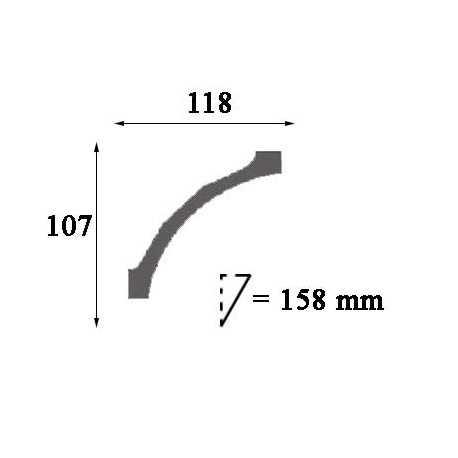 Moldingas P4020 (2000x50x29) mm