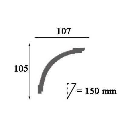 Moldingas P9040 (2000x50x25) mm