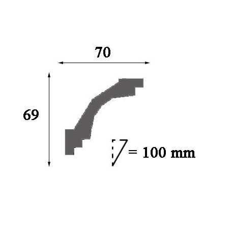 Moldingas P3020F (2000x61x32) mm
