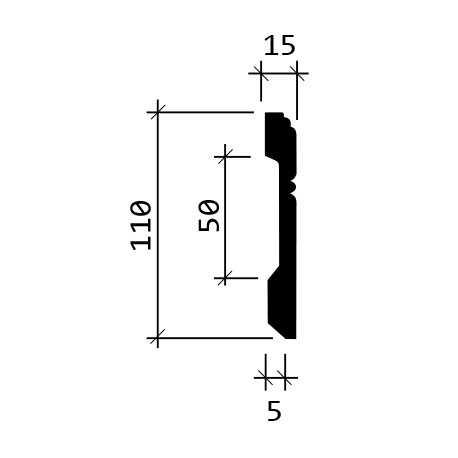 Juosta sienoms LF - 0023 (2400x43x15) mm