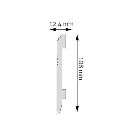 Juosta sienoms LF - 0086 (2400x48x16) mm