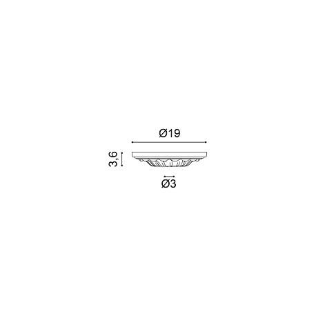 Karnizas luboms  C331 F (200 x 6.4 x 13.5 ) cm