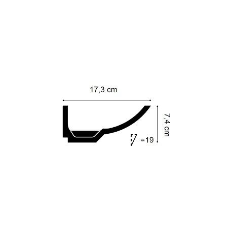 Grindjuostė LGC04 (2440x14x50) mm