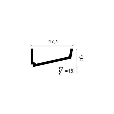 Grindjuostė LGC07M (2440x13x80) mm