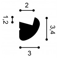 Grindjuostė SX157F (200x1.3x6.6)cm