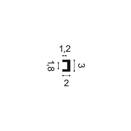 Grindjuostė SX162 (200x1.0x4.0)cm