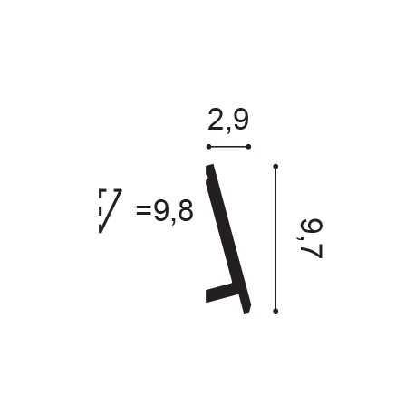 Grindjuostė SX165F (200x1.1x6.9)cm