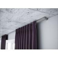 Karnizas lubinis pilkas 1 bėgelio komplektas.150 cm.
