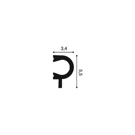 Lubinis užuolaidų profelis LU03 (2440x45x120)mm