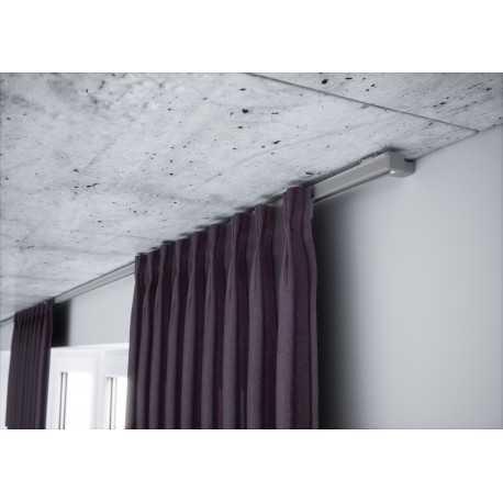 Karnizas lubinis pilkas 1 bėgelio komplektas.250 cm.