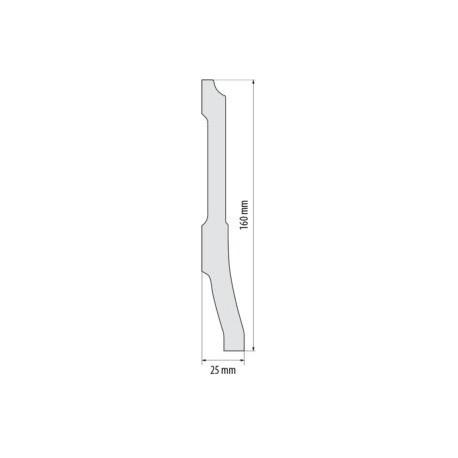 Moldingas SX181 (2000x200x22) mm