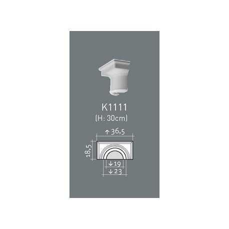 Dekoratyvinė kolona K 1101 (220 x 110 x 2020 - Ø 220) mm