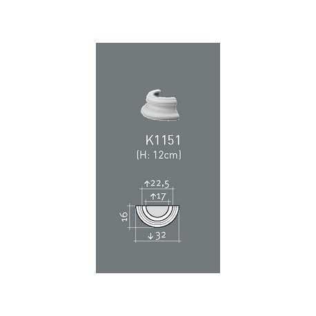 Kapitelis K1111 (365x183x300) mm